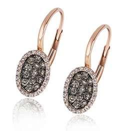 Goldmaid Damen-Ohrhänger Glamour Champagner 585 Rotgold 70 Diamanten 0,5 ct Brillanten Schmuck - 1