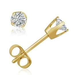Original McPearl Solitär Diamant Ohrringe. Top Qualität aus Deutschland. - 1
