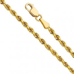 14 Karat / 585 Gold Kordelkette Gelbgold Breite 4.40 mm (Rope kette) Unisex Goldkette (70) - 1