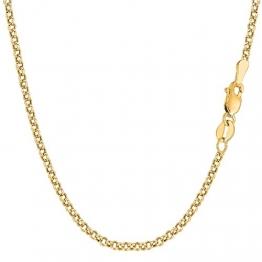14 Karat / 585 Gold Rund Erbskette Rolo Link kette Gelbgold Unisex - Breite 2.70 mm - Länge Wählbar (45) - 1