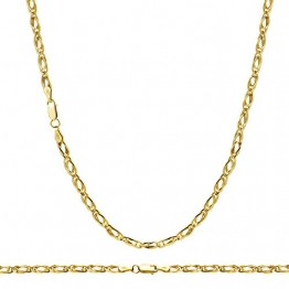 14 Karat 585 Gold Tigeraugen Pfauenauge Unisex Gelbgold Kette - Breite 3.50 mm (45) - 1