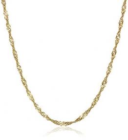 18 Karat / 750 Gold Singapur Kette Gelbgold Breite 2.50 mm Länge wählbar (50 CM) - 1