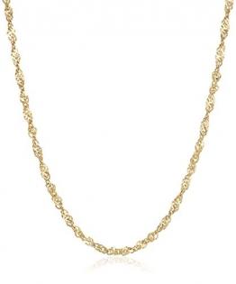 18 Karat / 750 Gold Singapur Kette Unisex Breite 2.20 mm Gelbgold Länge wählbar (40) - 1