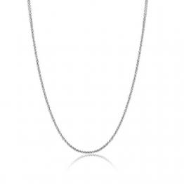18 Karat / 750 Weißgold Schöne Diamantschliff Spiga Weizen Kette Länge wählbar (60) - 1