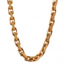 2,0 mm 45 cm 750-18 Karat Gelbgold Ankerkette diamantiert massiv Gold hochwertige Halskette 11,5 g - 1