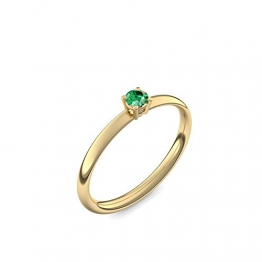 750 Goldring Smaragd (sehr hochwertig!) + inkl. Luxusetui + - Goldringe Smaragd Ringe (Gelbgold 750) - Concinnity Amoonic Größe 54 (17.2) AM161 GG750SMFA54 - 1