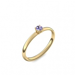 750 Goldring Tansanit (sehr hochwertig!) + inkl. Luxusetui + - Goldringe Tansanit Ringe (Gelbgold 750) - Concinnity Amoonic Größe 52 (16.6) AM161 GG750TAFA52 - 1