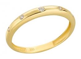 Ardeo Aurum Damenring aus 333 Gold Gelbgold mit Zirkonia im Brillant-Schliff Antragsring Verlobungsring - 1