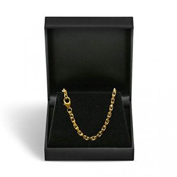 Goldkette, Ankerkette diamantiert Gelbgold 585/14 K, Länge 50 cm, Breite 3 mm, Gewicht ca. 23.6 g, NEU - 3