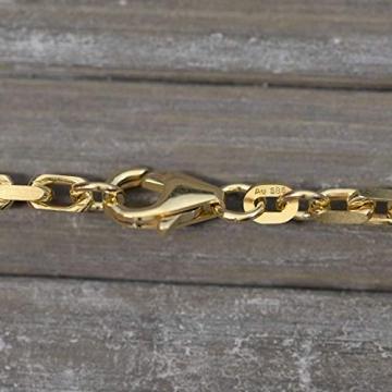 Goldkette, Ankerkette diamantiert Gelbgold 585/14 K, Länge 50 cm, Breite 3 mm, Gewicht ca. 23.6 g, NEU - 4