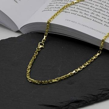 Goldkette, Ankerkette diamantiert Gelbgold 585/14 K, Länge 50 cm, Breite 3 mm, Gewicht ca. 23.6 g, NEU - 5