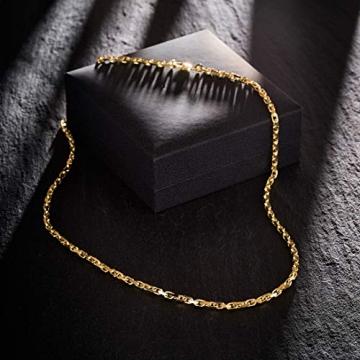 Goldkette, Ankerkette diamantiert Gelbgold 585/14 K, Länge 50 cm, Breite 3 mm, Gewicht ca. 23.6 g, NEU - 6