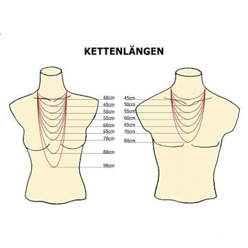 Goldkette, Ankerkette diamantiert Gelbgold 585/14 K, Länge 50 cm, Breite 3 mm, Gewicht ca. 23.6 g, NEU - 7
