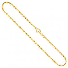 Goldkette, Ankerkette diamantiert Gelbgold 750/18 K, Länge 55 cm, Breite 2 mm, Gewicht ca. 14 g, NEU - 1