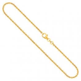 Goldkette, Ankerkette rund Gelbgold 750/18 K, Länge 38 cm, Breite 2 mm, Gewicht ca. 5.3 g, NEU - 1