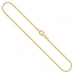 Goldkette, Ankerkette rund Gelbgold 750/18 K, Länge 80 cm, Breite 1.5 mm, Gewicht ca. 6,4 g, NEU - 1