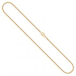 Goldkette Damen 750 Echtgold 55 cm, Ankerkette diamantiert mit Breite 1.7 mm, Gewicht ca. 6.4 g - 1