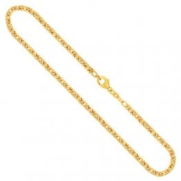 Goldkette, Königskette Gelbgold 585/14 K, Länge 55 cm, Breite 2.8 mm, Gewicht ca. 32 g, NEU - 1