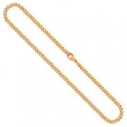 Goldkette, Panzerkette flach Gelbgold 585/14 K, Länge 60 cm, Breite 4.1 mm, Gewicht ca. 27.4 g, NEU - 1