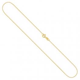 Goldkette, Venezianerkette Gelbgold 333/8 K, Länge 38 cm, Breite 0.6 mm, Gewicht ca. 0.8 g, NEU - 1