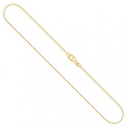 Goldkette, Venezianerkette Gelbgold 750/18 K, Länge 42 cm, Breite 0.9 mm, Gewicht ca. 3.4 g, NEU - 1