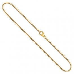 Goldkette, Venezianerkette Gelbgold 750/18 K, Länge 42 cm, Breite 1.4 mm, Gewicht ca. 7.5 g, NEU - 1