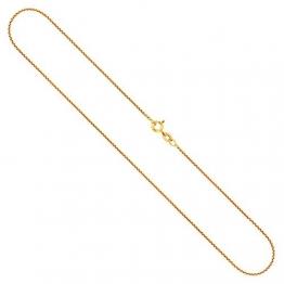 Goldkette, Venezianerkette Gelbgold 750/18 K, Länge 50 cm, Breite 1.2 mm, Gewicht ca. 4.9 g, NEU - 1