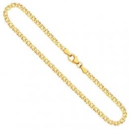 Goldkette, Zwillingspanzerkette Gelbgold 585/14 K, Länge 55 cm, Breite 2.9 mm, Gewicht ca. 6.7 g, NEU - 1