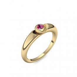 Goldring Rubin 585 + inkl. Luxusetui + Rubin Ring Gold Rubinring Gold (Gelbgold 585) - Escape Amoonic Schmuck Größe 54 (17.2) AM15 GG585RUFA54 - 1