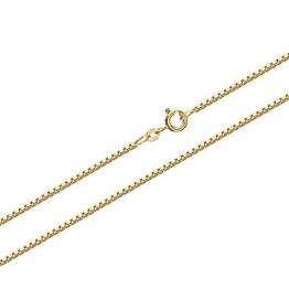 NKlaus 36cm Venezia Goldkette 0,7mm 585 Gelbgold 14 Karat Venezianerkette 1,45g Kette 9347 - 1