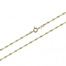 NKlaus 60cm Singapur 1,4mm Goldkette 333 Gelbgold 8 Karat Singapurkette Collier 2,00g 9401 - 1