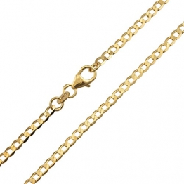Panzerkette Weit 333 Gold Breite 2,60mm Unisex Halskette Collier Gelbgold NEU (60) - 1
