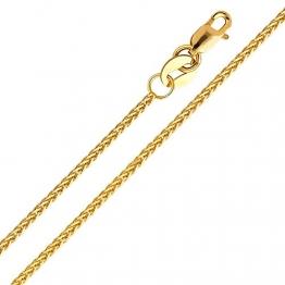 14 Karat 585 Gold Diamantschliff Spiga Weizen Gelbgold Kette - Breite 1.20 mm (50) - 1