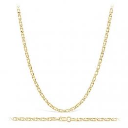 14 Karat / 585 Gold Tigeraugen Pfauenauge Gelbgold Kette - Breite 2.20 mm - Länge wählbar (50) - 1