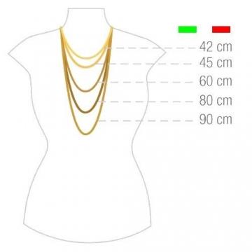 14 Karat / 585 Gold Tigeraugen Pfauenauge Gelbgold Kette - Breite 2.20 mm - Länge wählbar (50) - 4