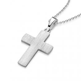 Kreuz Kette Silber 925 Kreuzkette + Luxusetui + Silberanhänger echt Silber Kreuzkette ohne Stein Kreuzanhänger Anhänger Kommunion Konfirmation Taufkette FF525 SS92545 - 1