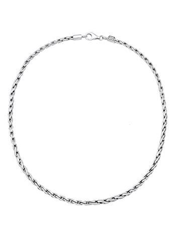 Kuzzoi Massive 925 Silber Königskette Herren Halskette, Dicke 4mm, Länge 50 cm, mit Schmuckbox, Herrenkette Silberkette ohne Anhänger - 0110970118_50 - 2
