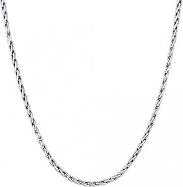 Kuzzoi Massive 925 Silber Königskette Herren Halskette, Dicke 4mm, Länge 50 cm, mit Schmuckbox, Herrenkette Silberkette ohne Anhänger - 0110970118_50 - 3