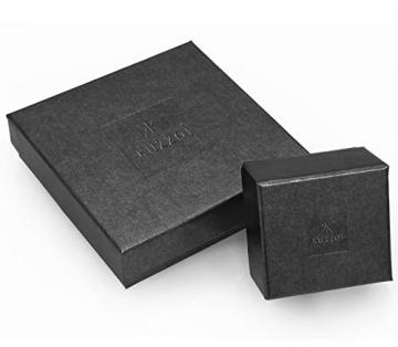 Kuzzoi Massive 925 Silber Königskette Herren Halskette, Dicke 4mm, Länge 50 cm, mit Schmuckbox, Herrenkette Silberkette ohne Anhänger - 0110970118_50 - 5