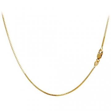 Massive 18 Karat / 750 Gold Venezianer Box Kette Gelbgold -1 mm Breit - Verschiedene Längen (50) - 2