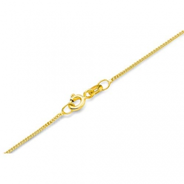 Miore Kette Damen Panzer Halskette Gelbgold 14 Karat / 585 Gold, Länge 45 cm Schmuck - 2
