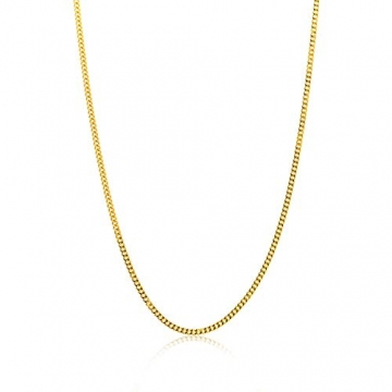 Miore Kette Damen Panzer Halskette Gelbgold 14 Karat / 585 Gold, Länge 45 cm Schmuck - 1