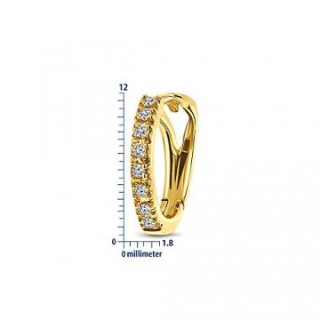 Miore Ohrringe Damen 0.10 Ct Diamant Creolen aus Gelbgold/Weißgold 18 Karat / 750 Gold, Ohrschmuck mit Diamant Brillianten (Gelbgold) - 3