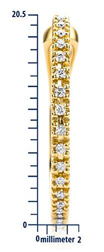 Miore Ohrringe Damen 0.18 Ct Diamant Creolen aus Gelbgold 18 Karat / 750 Gold, Ohrschmuck mit Diamanten Brillianten - 3