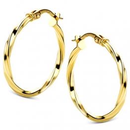 Orovi Damen Ohrringe Gelbgold Creolen 14 Karat (585) Gold - 1