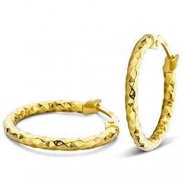 Orovi Ohrringe Damen Gelbgold 14 Karat / 585 Gold Creolen - 1