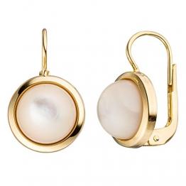 JOBO Damen-Ohrhänger aus 333 Gold mit Perlmutt Rund - 1