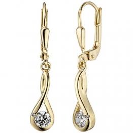 JOBO Damen-Ohrhänger aus 333 Gold mit Zirkonia - 1