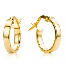 Miore Ohrringe Damen Creolen aus Gelbgold 9 Karat / 375 Gold, Ohrschmuck rund - 1