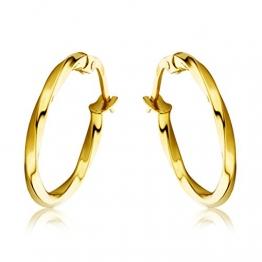 Miore Schmuck Damen Creolen Ohrringe aus Gelbgold 18 Karat / 750 Gold - 1